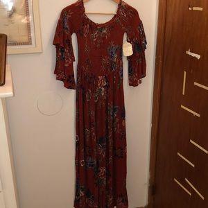 Altar'd State Off the Shoulder Maxi Dress
